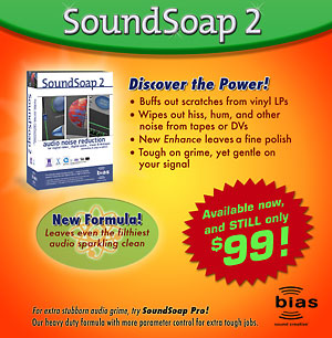 Image of SoundSoap 2 ad for trade show publication